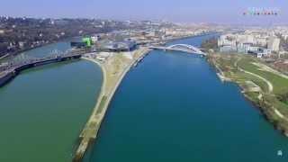 Lyon en 4K depuis un Drone - vues imprenables de Fourvière, place Bellecour