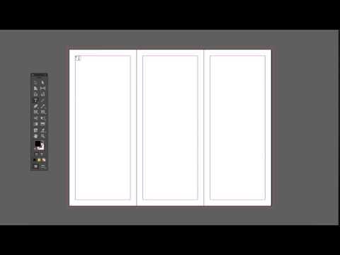 InDesign Tutorials — Tri-Fold Brochure Creating Textarea