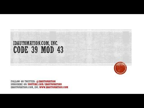 Barcode Teacher: Code 39 Mod 43 Check Character