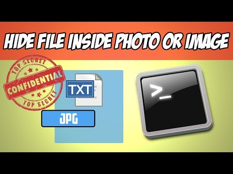 Hide File Inside Photo or Image without Any Software