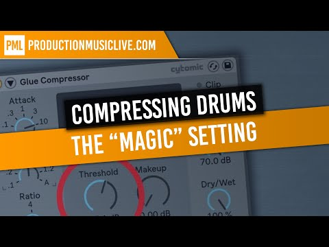 How To Compress Drums with Ableton Glue Compressor (The 'Magic' Setting)