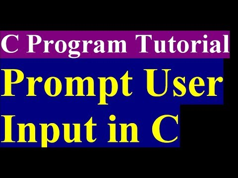 How To Accept User Input In C Programming | C Programming Tutorial | Part 5