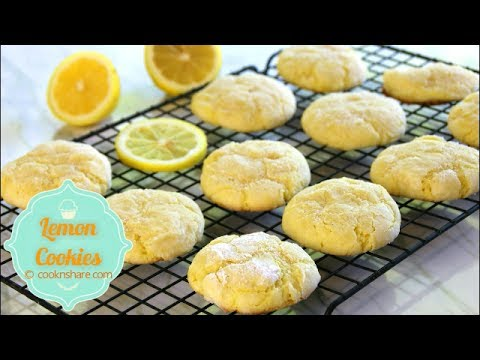 Soft Lemon Cookies - Melt in your mouth