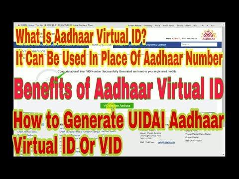 What is Aadhaar Virtual ID and How to Generate UIDAI Aadhaar virtual ID Or VID