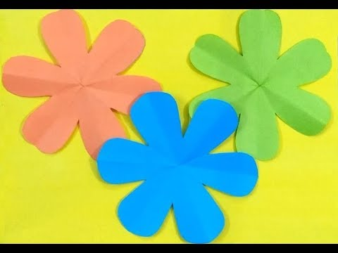 How to Cut a Perfect 6 Petal Flower   Easy Paper Flowes   Paper Craft-DIY
