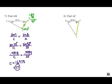 Law of Sines: Solving Non Right Triangles