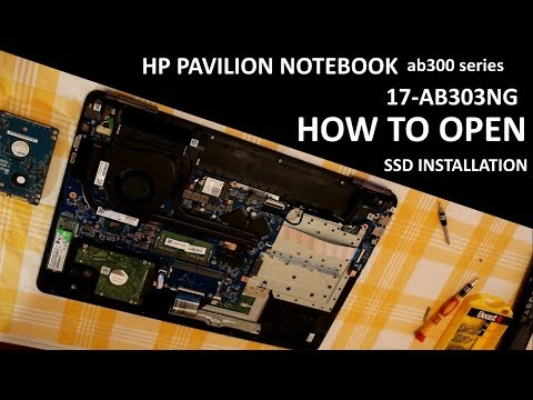 How to open HP 17 ab303ng Pavilion laptop