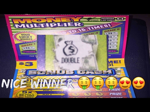 Nice Winner! Georgia Lottery: $3 Money Multiplier Scratch Off Ticket