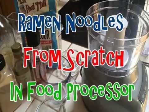 Vegetarian Ramen Egg Noodle Recipe In Minutes /  Food Processor & Pasta Machine