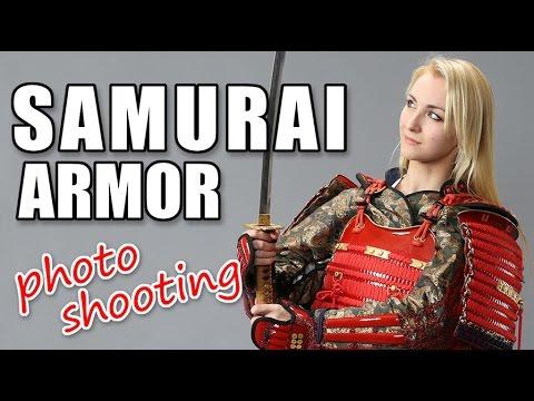 Put on the real Samurai Armor in Japan