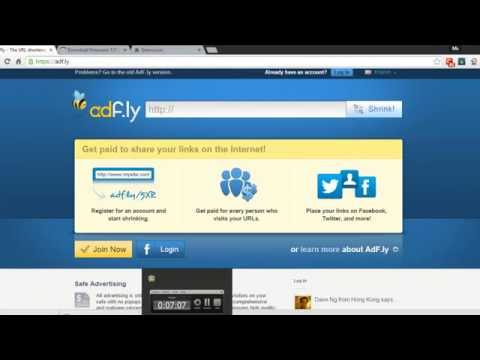 Earn money online by shrinking links with Adf.ly (100% Genuine)