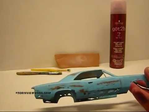 Rusty Car and Hair Spray