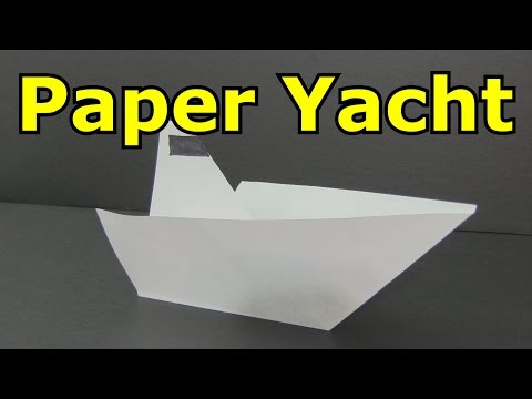 How to Make a Paper Boat - Yacht -