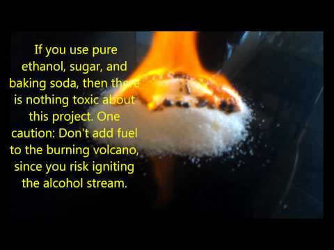 Baking Soda and Sugar Volcano