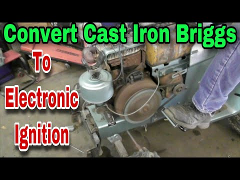 How To Convert A Cast Iron Briggs Engine To An Electronic Ignition - with Taryl