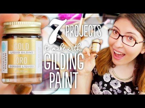 7 Easy DIYs with Liquid Gilding Paint