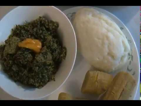 Bitter leaf 'vegetable' and Egusi soup