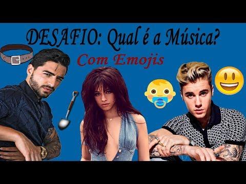 DESAFIO: Qual é a Música Internacional? Com Emojis (Maluma, Justin Bieber, Camila Cabello, ...)
