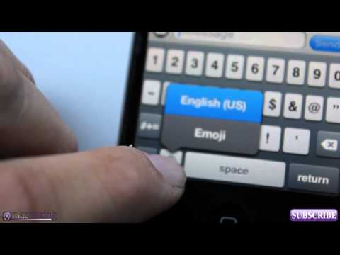iOS 6 / iOS 5  - New Features - Enable Emoji Keyboard - Using iMessage Emoticons