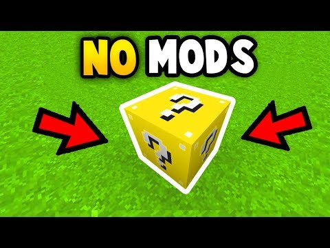 MINECRAFT : How To Get Lucky Block (No Mods) (Ps3/Xbox360/PS4/PE/XboxOne/WiiU)