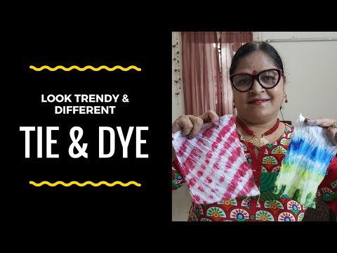 Tie & Dye Your Old Dresses at Home | Very Easy | Using Fabric Colors