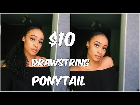SLEEK LOW PONYTAIL WITH $10 DRAWSTRING | Freetress Equal Drawstring Brazilian Girl