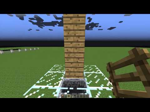 Minecraft Tutorial: Fastest Minecart Elevator