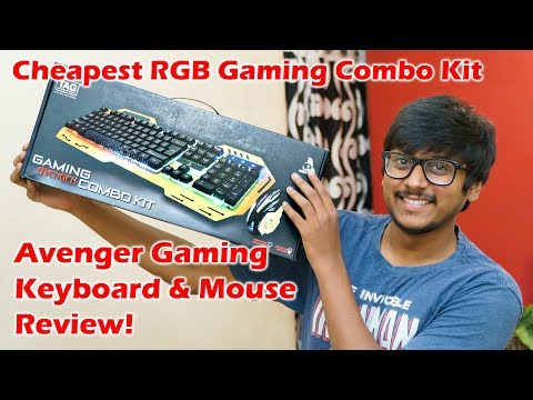 TAG Avenger Gaming Combo Review | Cheapest RGB Gaming Keyboard & Mouse...