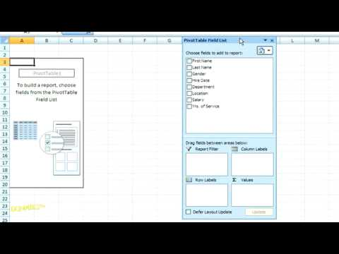 How to Create a Pivot Table in Excel 2007 For Dummies