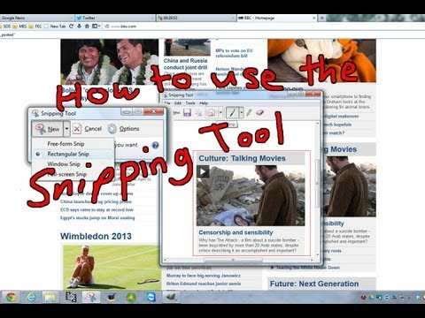 How to Use the Snipping Tool with Microsoft Windows 7