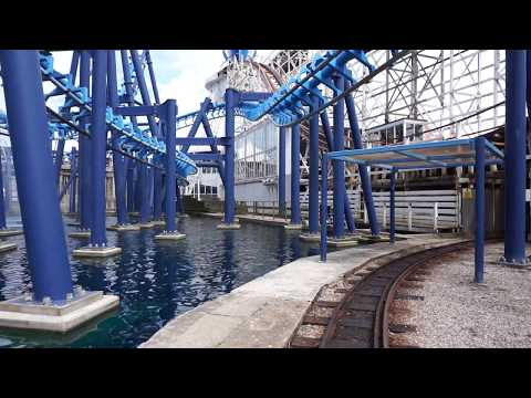 Blackpool Pleasure Beach Train Ride (POV 50FPS)