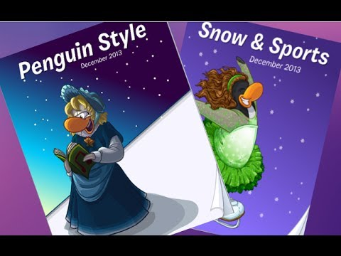 Club Penguin-Penguins Style Clothing and Sport Catalog cheats and Secrets-December 2013