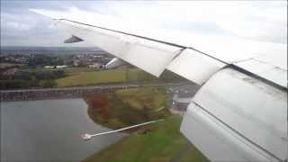 Air France Boeing 777-200ER approach in severe turbulence + landing at Paris CDG
