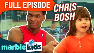 This is Emily Yeung Playing Basketball with Chris Bosh