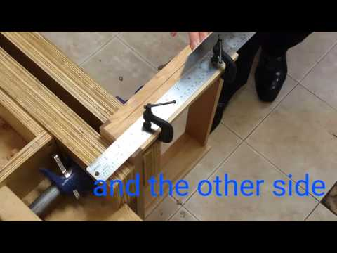 How to make a neat stopped groove by hand