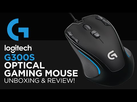 Logitech G300s Optical Gaming Mouse Unboxing & Review!