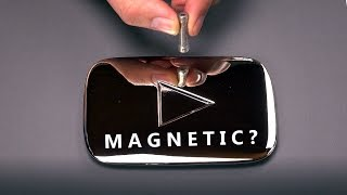 Magnetic Silver Play Button?