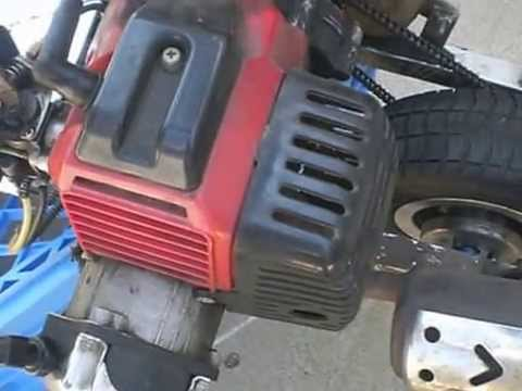 49cc standup gas scooter- part 4  starts & runs, adjusting idle