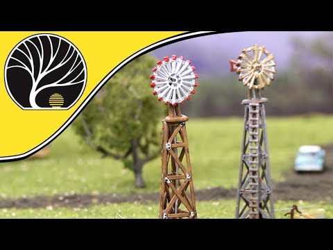 Windmill and Old Windmill – N & HO Scales | Built-&-Ready® | Woodland Scenics | Model Scenery