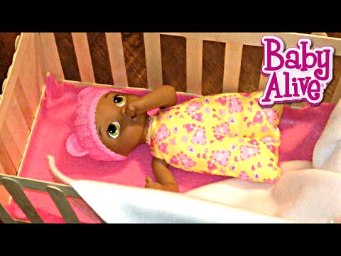 Baby Alive Doll Crib for Snugglin' Sarina from Popsicle Sticks