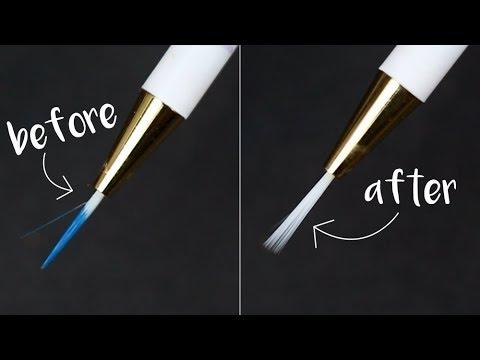 How To Clean Your Nail Art Brushes! (Nail Polish 101) || KELLI MARISSA