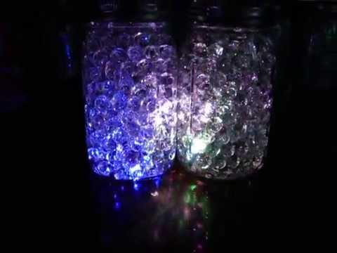 Mason Jar of Fireflies Multi Color Water Beads