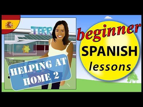 Helping at home in Spanish (2) | Beginner Spanish Lessons for Children