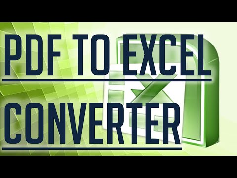 [Free Excel Tutorial] PDF TO EXCEL CONVERTER - FULL HD