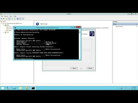Windows Server 2012 R2 DHCP Configuration