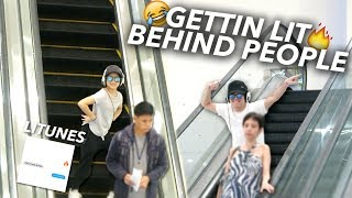 GET LIT DANCE DARE!! DANCING BEHIND PEOPLE | Ranz and Niana