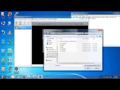 how to download oracle vm box and install windows xp