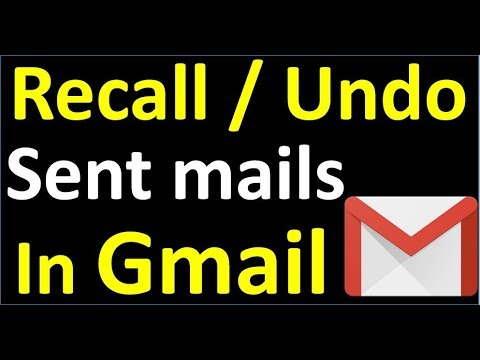 How to cancel / undo / reverse  / recall a sent mail in Gmail