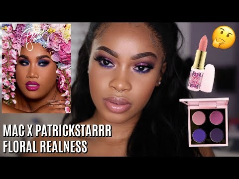 MAC x PatrickStarrr Floral Realness Collection | First Impression + Tutorial