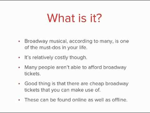 How To Get Broadway Tickets For Less
